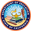Official Seal of the California Department of Education, and it opens in a new window.