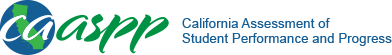 California Assessment of Student Performance and Progress Public Web Reporting Home page, and it opens in a new window.